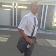 Elder Belisle (IA)Salt Lake City MissionTract bag